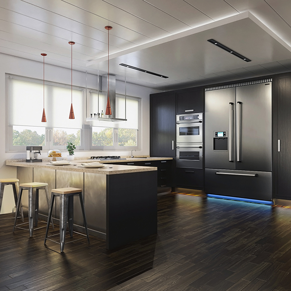 Vray Kitchen Interior - 3DOcean Item for Sale