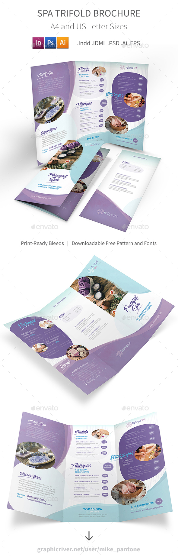 Spa Trifold Brochure 8 - Informational Brochures