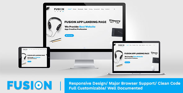Fusion – Responsive Multipurpose WordPress Theme