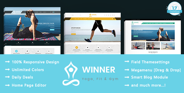 Winner – Yoga Gym & Fitness Responsive Prestashop Theme