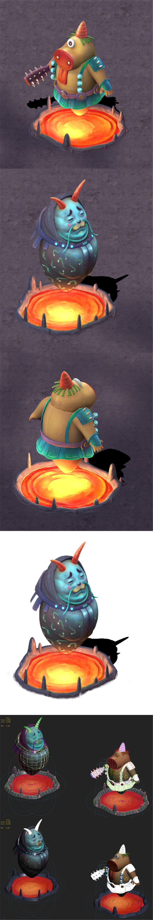 Cartoon hell - hell prosecutor - 3DOcean Item for Sale