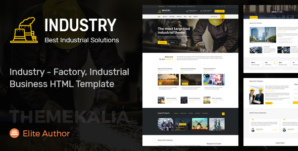 Industry – Factory, Industrial Business HTML Template