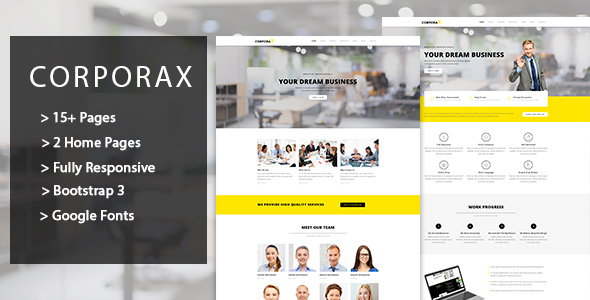 Corporax – Corporate HTML Template