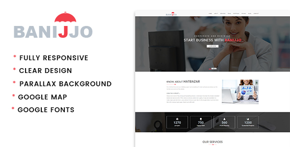 Banijjo – Business HTML Template