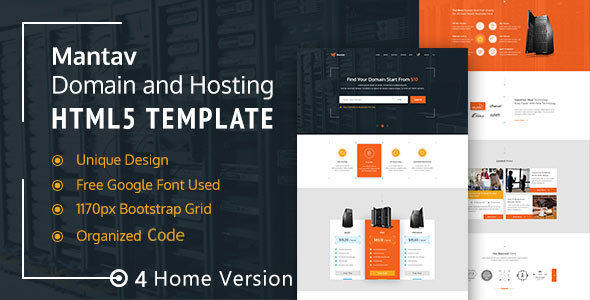 Mantav – Responsive Domain & Hosting Template