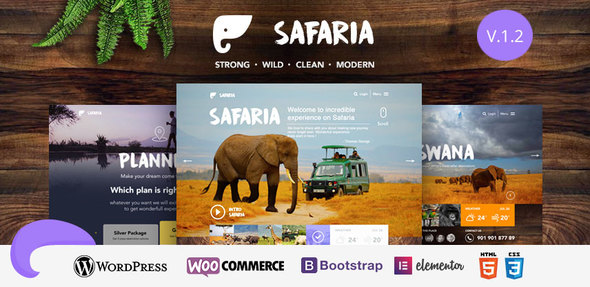 Safaria - Safari & Zoo WordPress Theme - WooCommerce eCommerce