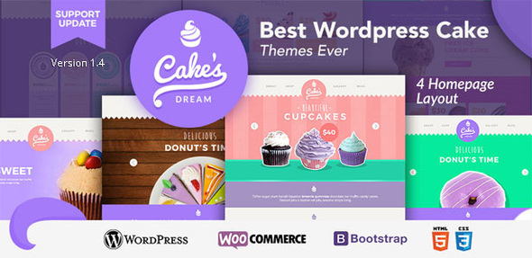 Cake Dream - Responsive Wordpress Woocommerce Theme
