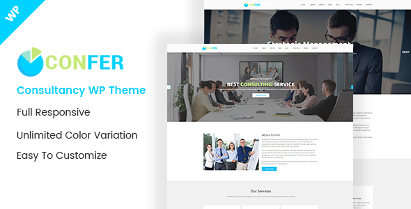 Confer – Consultancy, Finance & Business WordPress theme