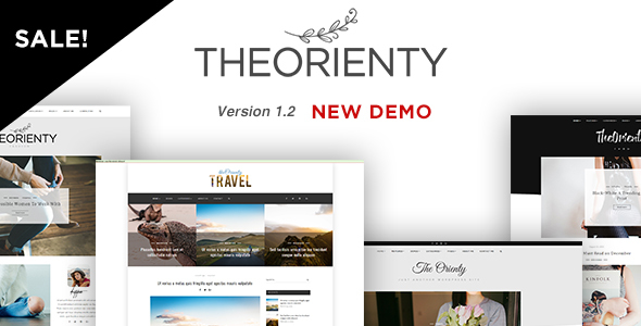 TheOrienty - A Skew Header Blog Theme - Personal Blog / Magazine