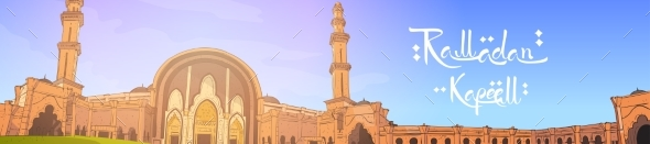 Mosque Building Ramadan Kareem Muslim Religion - Religion Conceptual