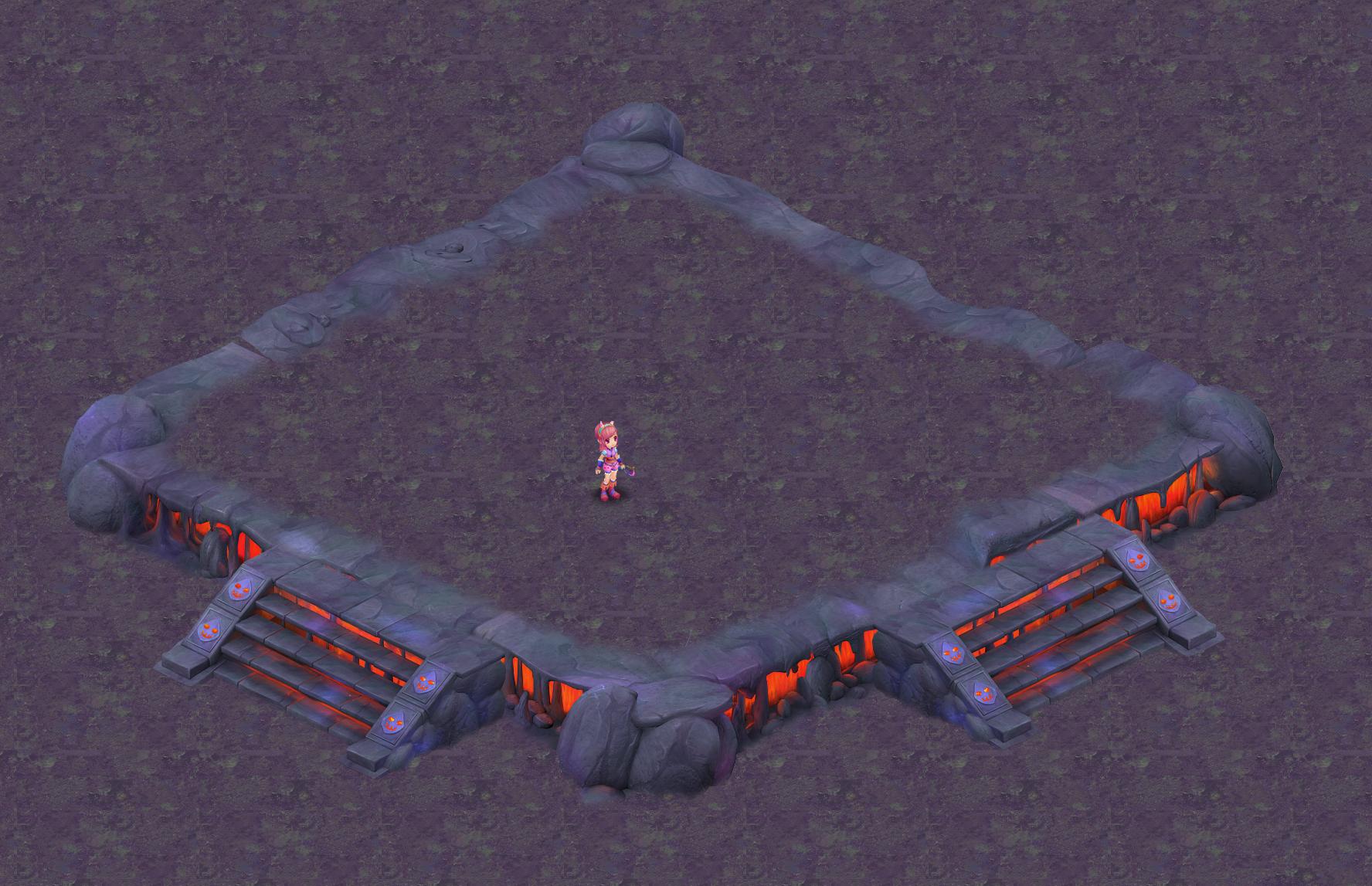Cartoon hell - false terrain 01