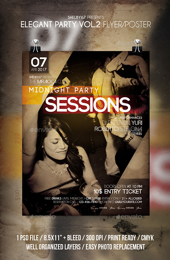 Elegant Party Flyer / Poster Vol 2 - Clubs & Parties Events