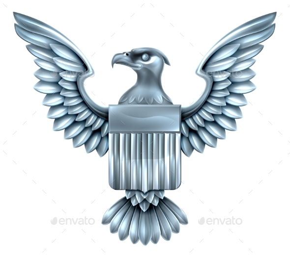 Metal American Eagle Shield - Miscellaneous Vectors