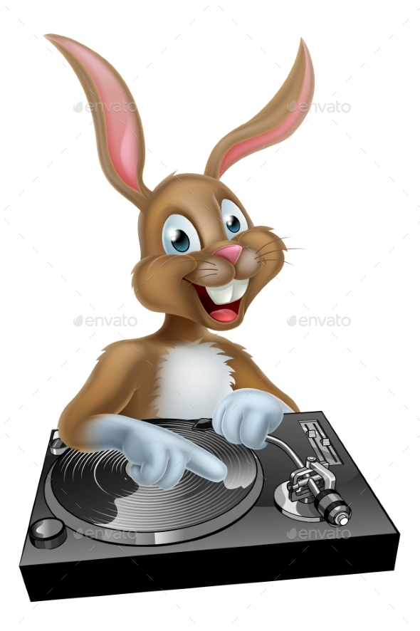 Easter Bunny DJ at the Decks - Animals Characters