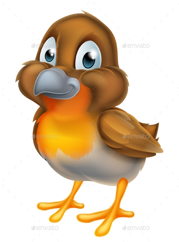 Cartoon Robin Bird - Animals Characters