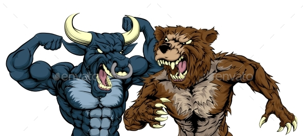 Bear Versus Bull Concept - Miscellaneous Characters