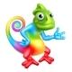 Cartoon Rainbow Chameleon