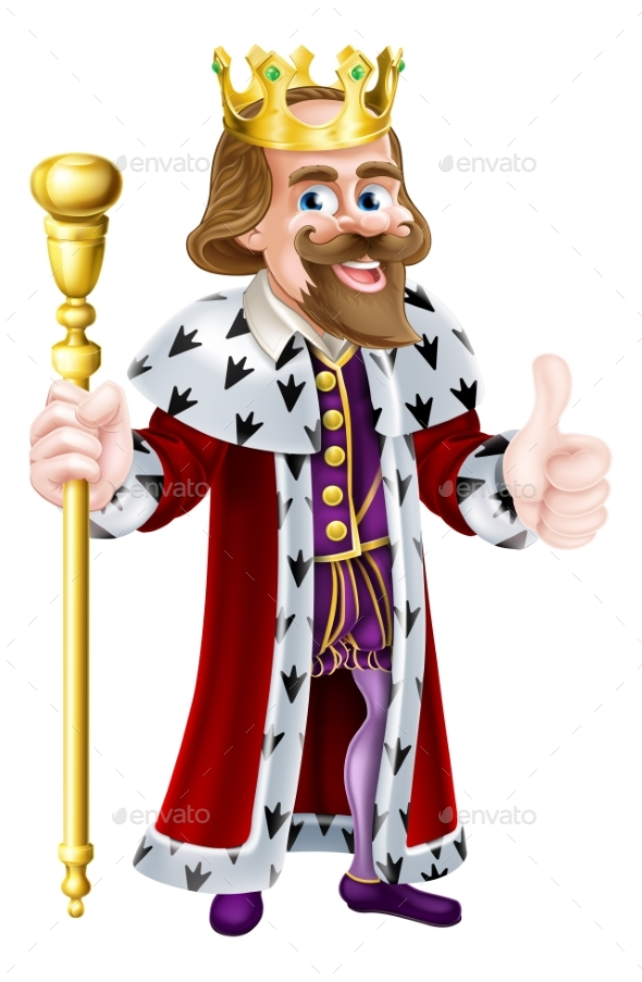 Thumbs Up King Cartoon - People Characters