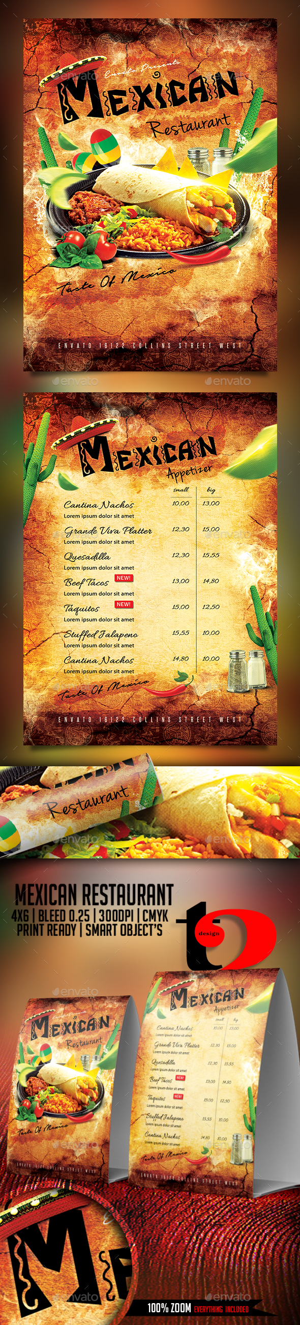 Mexican Restaurant Flyer Template - Restaurant Flyers