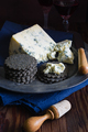 Mature English Stilton Cheese and Charcoal Crackers - PhotoDune Item for Sale