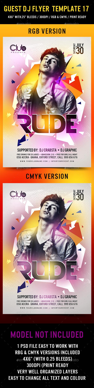 Guest DJ Flyer Template 17 - Clubs & Parties Events