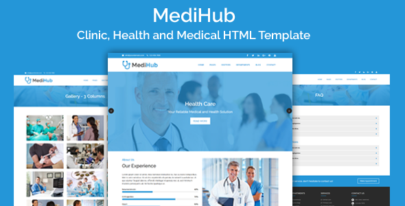 MediHub – Clinic, Health and Medical HTML Template