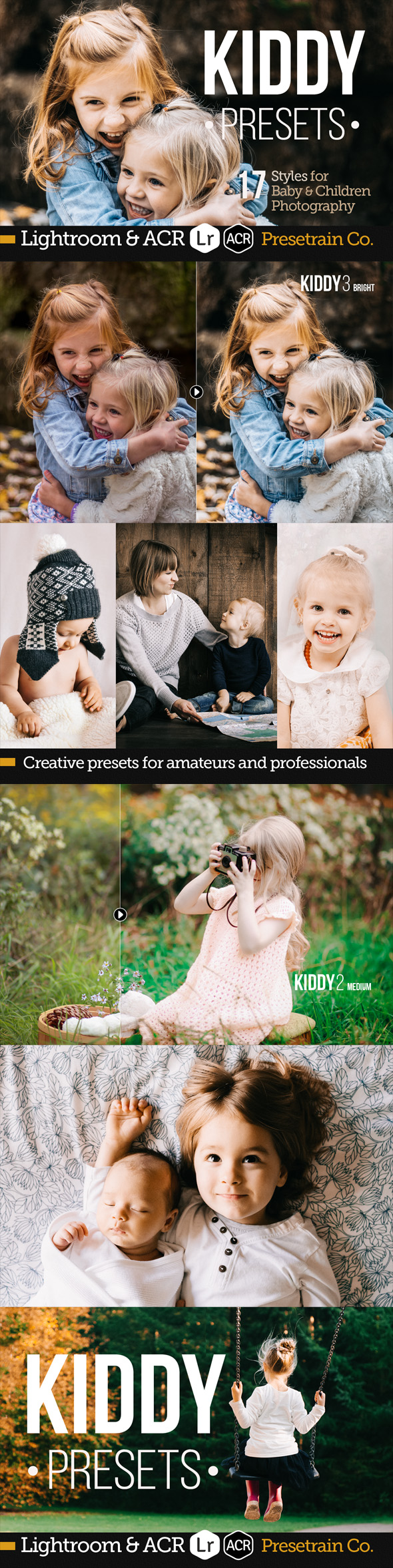 Kiddy - 17 Baby and Children Presets for Lightroom & ACR - Lightroom Presets Add-ons