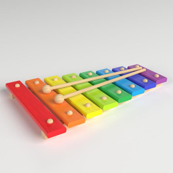 Xylophone Toy - 3DOcean Item for Sale
