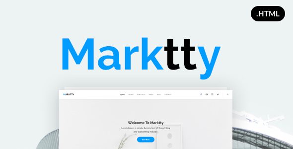 Marktty Creative Agency HTML Template