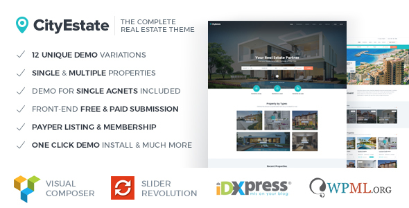 CityEstate - Complete Real Estate WordPress Theme - Real Estate WordPress
