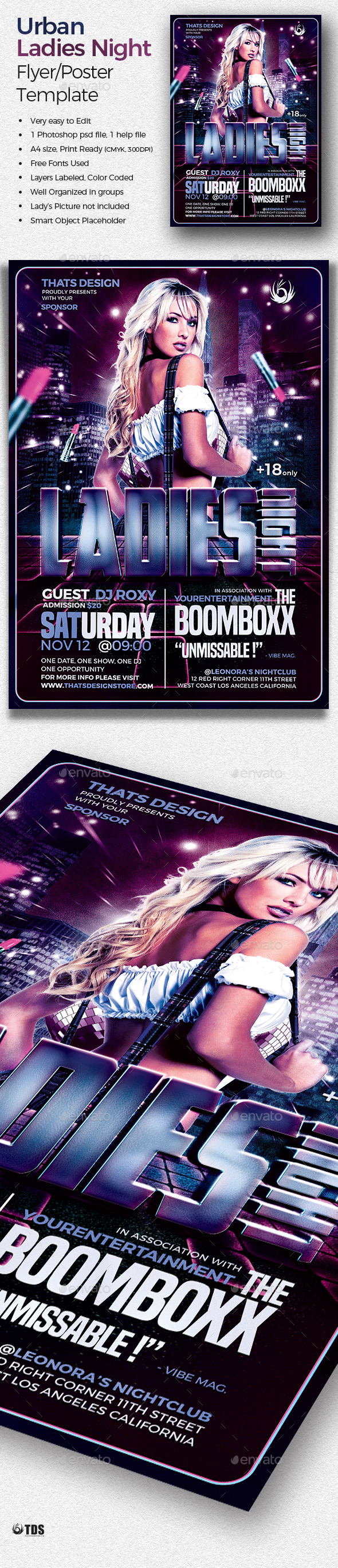 Urban Ladies Night Flyer Template - Clubs & Parties Events