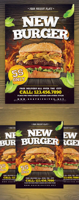 New Burger Flyer Template - Restaurant Flyers
