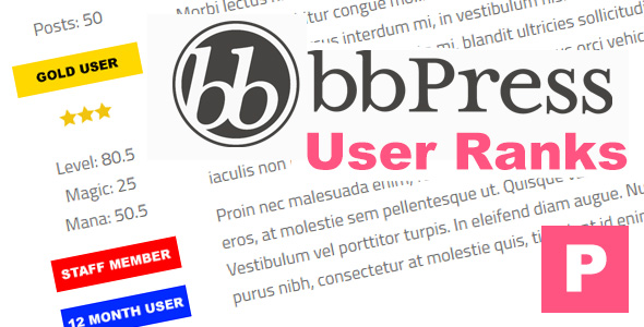 bbPress User Ranks - CodeCanyon Item for Sale