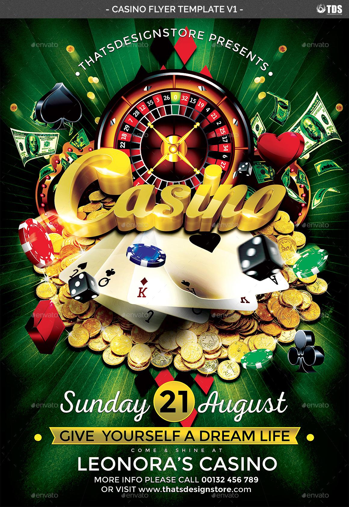 casino flyer template v1 by lou606