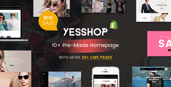 YESSHOP – Massive Dynamic Responsive Shopify Theme – Ultimate Fashion, Supermarket, Minimal… STORE
