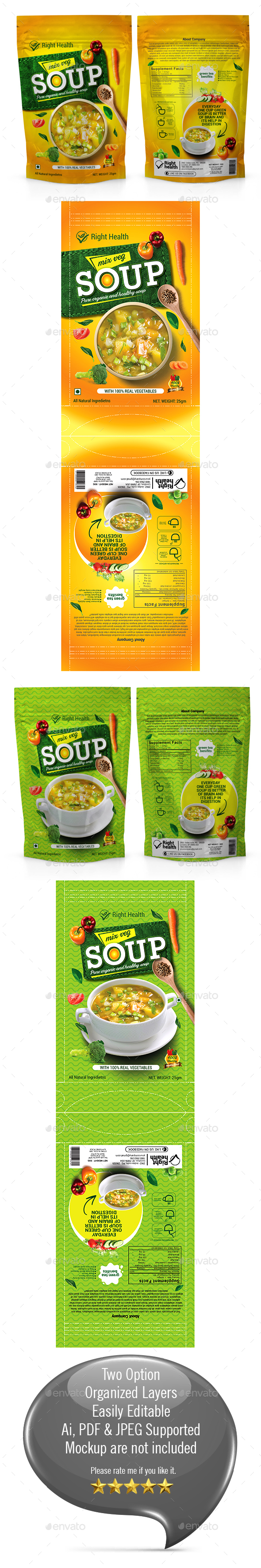 Soup Packaging Templates - Packaging Print Templates