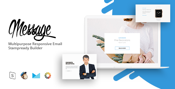 message – Responsive Email Template Minimal