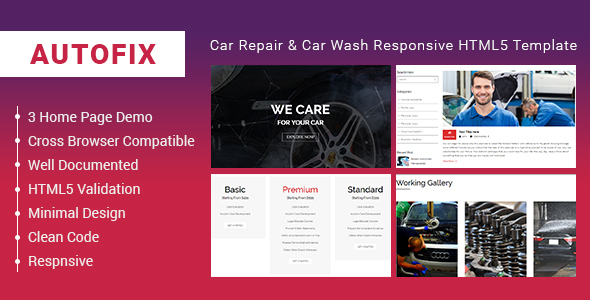 AutoFix - Car Repair & Car Wash Responsive HTML5 Template