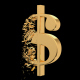 Gold Dollar Collapsing - VideoHive Item for Sale