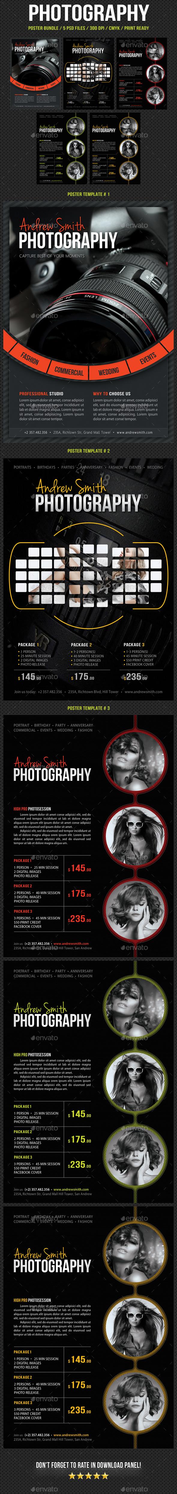 3 Photography Poster Bundle - Signage Print Templates