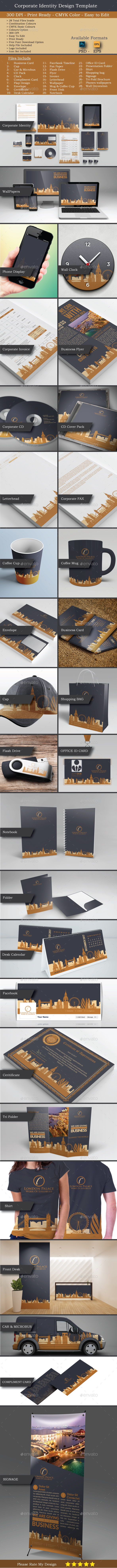 Modern Real Estate Identity Set - Stationery Print Templates