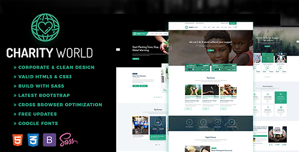 Charity World – Multipurpose Non-profit HTML5 Template