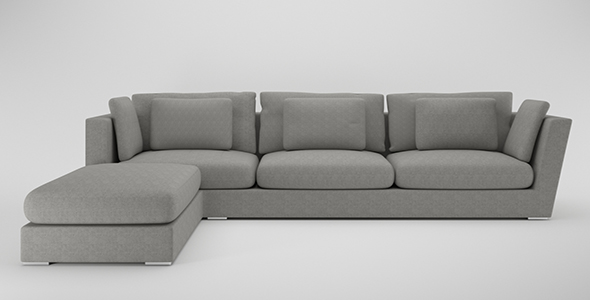 Sofa L shape. - 3DOcean Item for Sale