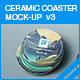 Ceramic Coaster Mock-up v3 - GraphicRiver Item for Sale