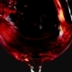 Filling Wine Glass with Red Wine Super   Shot, Black Background - VideoHive Item for Sale