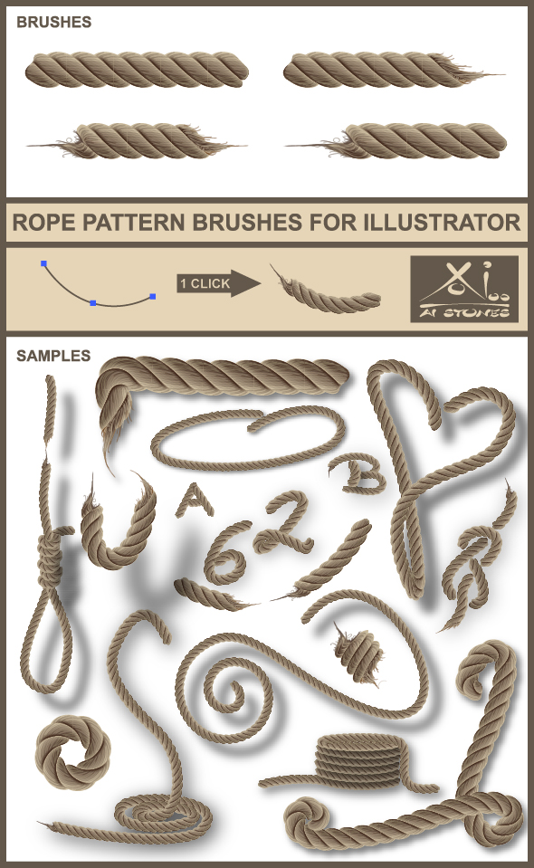 Real Rope - Brushes for Illustrator - Miscellaneous Brushes