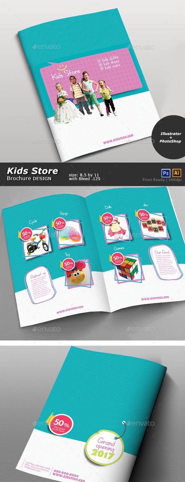 Kids Store Brochure - Brochures Print Templates