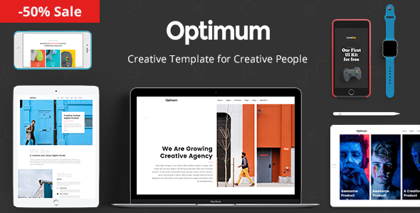 Optimum - Creative Template for Creative People - Portfolio Creative