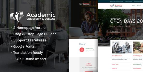 Academic - Education WordPress Theme by NiloySarker [19257775]