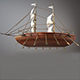 decorative wooden boat